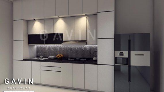 Desain 3D Kitchen Set Minimalis Bahan HPL