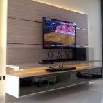 Rak TV Minimalis Dengan HPL