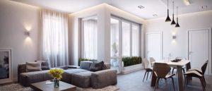 Desain Interior minimalis Rumah Kecil Mewah 2 lantai 1