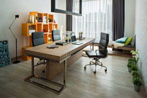gambar ruang kerja desain minimalis