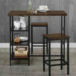 meja cafe dengan kaki besi