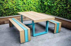 meja cafe unik model panjang minimalis