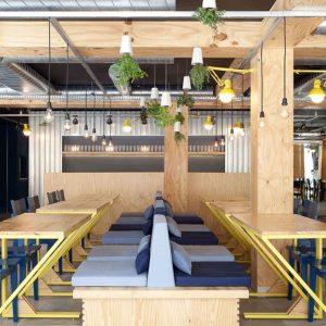 desain meja cafe kayu minimalis modern
